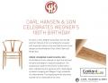 Ordina la sedia Wishbone il 2 aprile